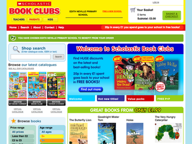 Scholastic Book Clubs - Parent's hompage